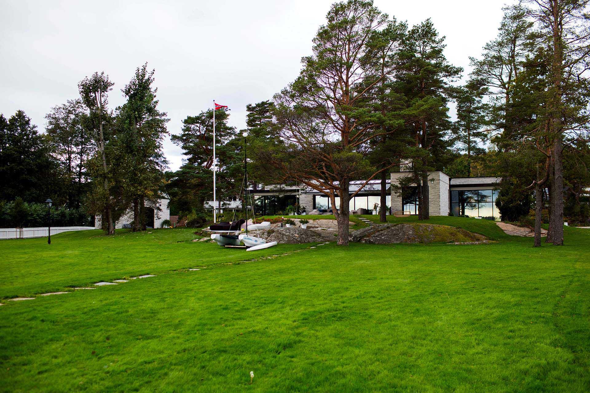 Arkitekttegnet hytte på Tjøme